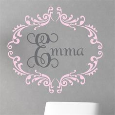 Complete your little girl's nursery or bedroom with the Princess Interlock Wall Decal from Alphabet Garden Designs!  Choose your colors to match your child's room!