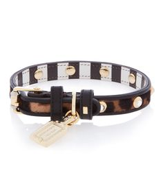 Crystal Rivet Designer Dog Collar by Henri Bendel. Genuine leather dog collars with leopard print haircalf, signature Bendel crystal rivets, and a tag charm. Designer Dog Collars, Paws And Claws, Leather Dog Collars, White Dogs, Cartier Love Bracelet, Dog Accessories, Dog Design, Fashion Jewelry, Henri Bendel