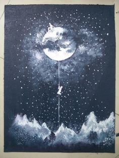 Hope and moon acrylic Moon, Celestial, Space, Creative, Outdoor, The Moon, Floor Space, Outdoors, Outdoor Living