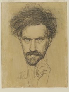 Austin Osman Spare (English, 1886-1956), Self-portrait, 1935. Drawing. Victoria & Albert Museum, London.