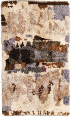 Hand-Knotted Wool Rya Rug for Sellgren, Terracotta, Rya Rug, Moroccan Art, Latch Hook Rugs, Creative Textiles, Scandinavian Home, Wall Patterns, Contemporary Rugs, Rug Hooking