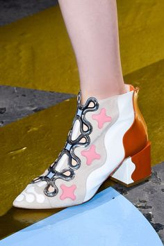 Peter Pilotto put a playful (and colorful) spin on the classic western boot, perfectly accessorizing his whimsical collection for Fall 2015.