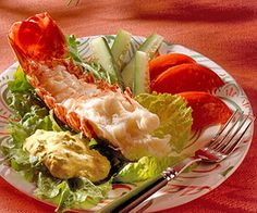 Lobster with Curried Dressing