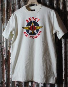 THE REAL McCOY'S MILITARY TEE ARMY AIR FORCESMC10003