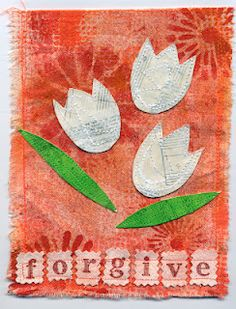 The Prayer Flag Project: Forgive Fabric Art, Fabric Crafts, Fun Projects, Sewing Projects, School Projects, Peace Flag, Bunting Flags, Buntings, Prayer Garden