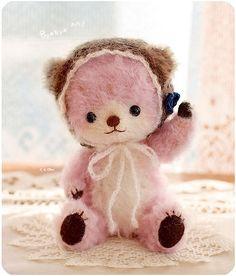 Cutest little pink teddy bear!