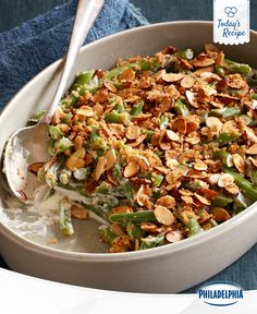 Your dinner party will be on a roll with a green bean casserole.