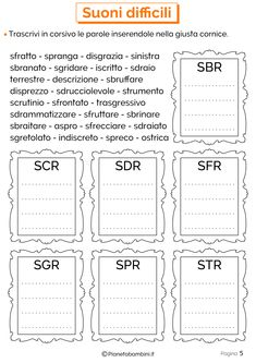 Schede Didattiche sui Suoni Difficili | PianetaBambini.it