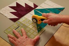 Cut to It: Strategies for Smarter Quilting. My mind is blown with the cutting process.