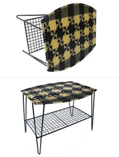 Woven chairs and tables from Lili Pepper and beyond textiles.