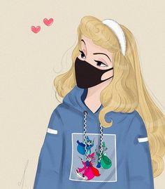 Disney Princess Fashion, Disney Princess Quotes, Disney Princess Drawings, Disney Princess Pictures, All Disney Princesses, Disney Drawings, Punk Disney, Disney Fan Art, Aurora Disney