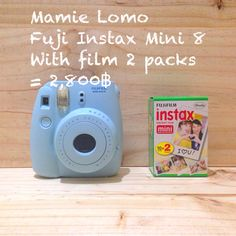 Mini 8 blue pastel (polaroid,fuji instax) at mamie lomo shop , Chiangmai , Thailand.