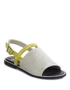 Shoes | Women's Shoes | Salvant Suede Flat Sandals | Hudson's Bay
