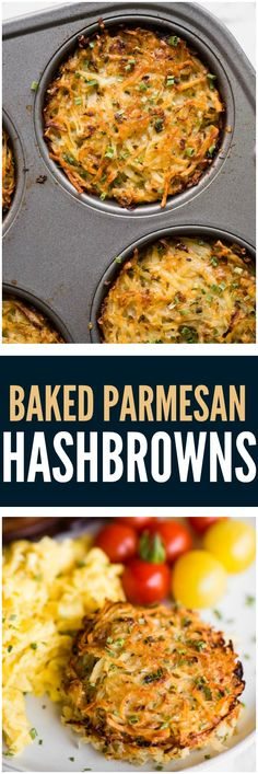 Try with sweet potatoes and zucchini! Baked Parmesan Hashbrowns, baked to golden brown perfection and made with freshly grated potatoes, are a breakfast favorite! They are loaded with flavor and are the perfect addition to your hearty breakfast. Hashbrown Breakfast Casserole, Breakfast Potatoes, Hash Browns, Vegetarian Recipes, Cooking Recipes, Healthy Recipes, Vegetarian Brunch, Vegetable Recipes, Healthy Food