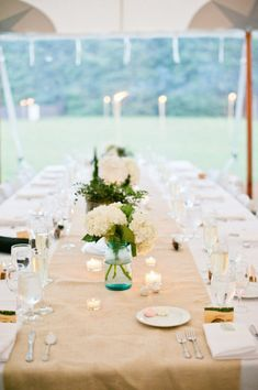 wedding table with mason jars Mason Jar Love! 50 Fabulous Ideas To Inspire