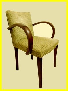 Fauteuil bridge vintage 1950 velours d vor bois et for Chaise bridge art deco