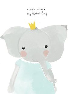 Little elephant girl wall paper Elephant Illustration, Cute Illustration, Nursery Prints, Nursery Wall Art, Scrapbooking Image, Illustration Mignonne, Art Mignon, Baby Posters, Baby Art