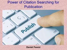 """""""Daniel Feerst - Power of Citation Searching for Publication"""" published by """"danielfeerst53"""" on @edocr Earth Science, Life Science, Science Demonstrations, Institute Of Physics, Program Management, Behavioral Science, Royal Society, Drug Free, Best Sites"""