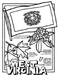 west virginia coloring pagecoloring pages for all 50 states