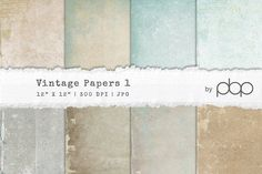 Vintage Paper Textures 1 by pixelbypixel on @creativemarket