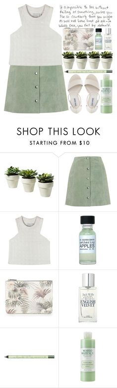 """""""Sweeter Than Fiction"""" by heartart ❤ liked on Polyvore featuring Topshop, Shakuhachi, Warehouse, Jack Wills, Pixi, Mario Badescu Skin Care and Steve Madden"""