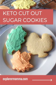 Rollout keto cut out sugar cookies are the perfect low carb cookie for any holiday. Made with gluten-free almond flour, kids love to pick shapes and frost this special keto dessert. Keto Friendly Ice Cream, Keto Ice Cream, Keto Cookies, Sugar Cookies, Low Carb Keto, Low Carb Recipes, Healthy Desserts, Dessert Recipes, Keto Meal Plan