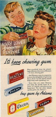 I would have loved Clove gum! Dang it, I always say I was born at the wrong time!