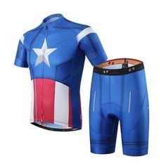69.99 Captain American Marvel Superhero Cycling Kit  ffdf150d6