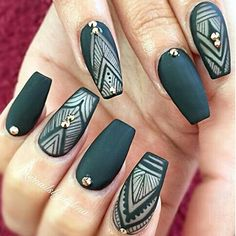 In seek out some nail designs and ideas for the nails? Here's our list of 23 must-try coffin acrylic nails for trendy women. Get Nails, Matte Nails, Hair And Nails, Teal Acrylic Nails, Fabulous Nails, Gorgeous Nails, Pretty Nails, Nail Art Vert, Manicure E Pedicure
