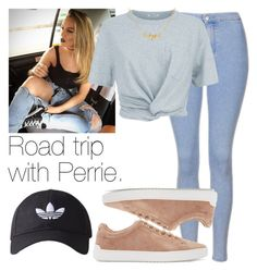 """Road trip with Perrie."" by fireproofnarry ❤ liked on Polyvore featuring Topshop, T By Alexander Wang, adidas Originals and rag & bone"