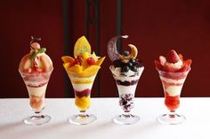 Held a summer limited 2014 Midsummer Parfait with Ginza Shiseido parlor Frozen Desserts, Just Desserts, Japan Dessert, Real Food Recipes, Dessert Recipes, Dessert Cups, Bakery Cafe, Cafe Food, Cupcakes