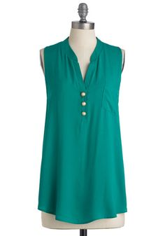 Green is my favorite color.  This is a cute blouse.