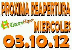 atentos próxima reapertura electro hiper