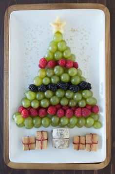 Christmas Tree Fruit Platter - The First Year || Fruit Platters for Kids: 10 Christmas Party Platters! || Letters from Santa Holiday Blog