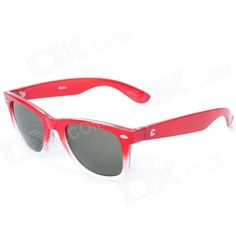 Brand: OREKA; Model: 8; Quantity: 1; Gender: Unisex; Suitable for: Adults; Protection: UV400; Frame Color: Red; Lens Color: Grey; Frame Material: Enviromental friendly PC; Lens Material: PC; Lens Height: 35 mm; Lens Width: 50 mm; Bridge Distance: 10 mm; Overall Width of Frame: 145 mm; Temple Length: 150 mm; Features: protects your eyes from harmful lights; Packing List: 1 x Sunglasses; 1 x Package box; 1 x Cleaning cloth; http://j.mp/1lkzuiS
