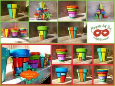 Macetas Pintadas Para Vos Pottery Painting, Ceramic Painting, Pottery Vase, Painted Clay Pots, Painted Flower Pots, Clay Pot People, Terracotta Flower Pots, Clay Pot Crafts, Cold Process Soap