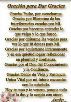 Oración para dar gracias Posted to Prayer June 2017 Devine Mercy, Prayer Images, Spanish Prayers, Value Quotes, Learning To Pray, Beautiful Prayers, Spiritus, God Prayer, Morning Prayers