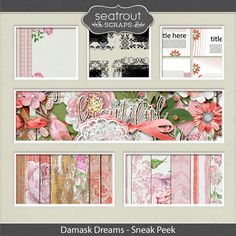 SNEAK PEEK AND ENTER TO WIN with Seatrout Scraps. You have a chance to win the Damask Dreams $5 Grab Bag by commenting in her Facebook Group. Entries close Thursday midday EST; https://www.facebook.com/groups/456826667843146/. 10/25/2016