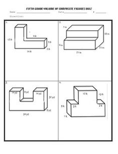 Prisms and Cylinders Surface Area Worksheets | Math-Aids ...