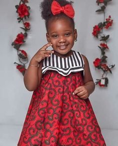 Baby African Clothes, African Dresses For Kids, African Children, Latest African Fashion Dresses, Kids Dress Wear, Kids Gown, Baby Girl Party Dresses, Dresses Kids Girl, African Print Dress Designs