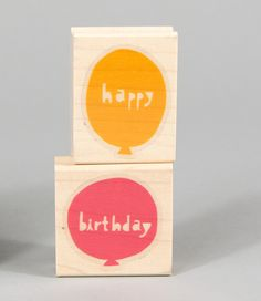 Happy Birthday balloons - Stamp in a box