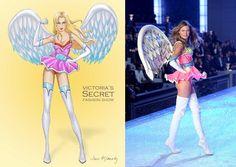 Victoria's Secret Fashion Show - Behati Prinsloo 2011 - Super Angels segment (by Jane Kennedy) Jane Kennedy, Behati Prinsloo, Adam Levine, Victoria Secret Fashion Show, Angels, Victoria's Secret, Angel, Angelfish