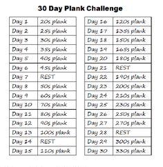 plank challenge | 30 day plank challenge | Tumblr