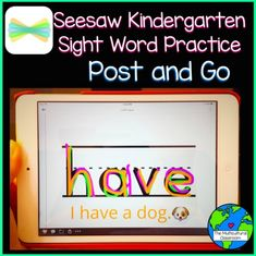This video shows teachers how they can add sight words to the Seesaw App. It also shows how students can practice their sight words using the App. Teaching Sight Words, Sight Word Practice, Sight Word Activities, Classroom Activities, Sight Word Apps, Multicultural Classroom, Seesaw App, Online Classroom, 21st Century Learning