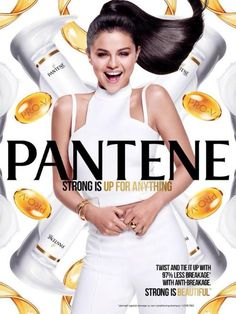 """August (HQ) New promotional photos of Selena Gomez for her ""Strong is Beautiful"" campaign with Pantene. Selena Gomez Net Worth, Rihanna, 00's Makeup, Alex Russo, Star Actress, Perfume Ad, Marie Gomez, Pop Singers, Your Hair"