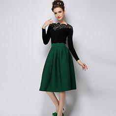 colore solido con la camicia del merletto delle donne q.s.h – EUR € 12.89