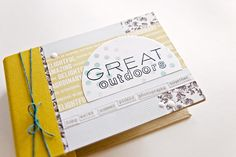 How to Make a Mini Album: The Great Outdoors