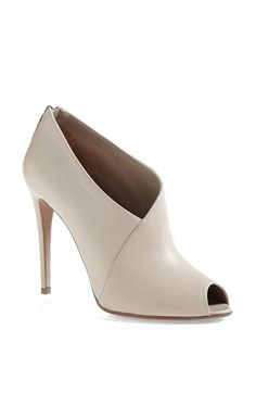 Shoe Addiction // Prada Peep Toe Bootie available at #Nordstrom - the perfect neutral bootie!