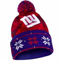 New York Giants Hat - LED Lighted Big Logo Beanie
