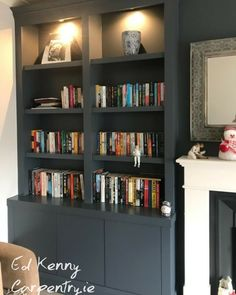 Contemporary Alcove units Carpentry Services, Bespoke Furniture, Alcove, Bookcase, The Unit, Shelves, Contemporary, Building, Ideas